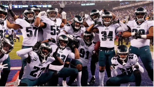Members of the 2019-2020 Philadelphia Eagles team