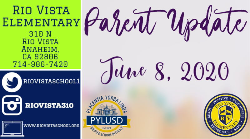 parent update June 8th