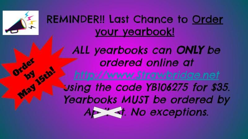 Yearbook Deadline EXTENDED! Featured Photo