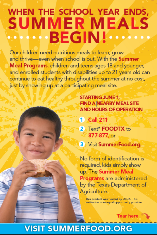 Summer Meals from MCISD Featured Photo