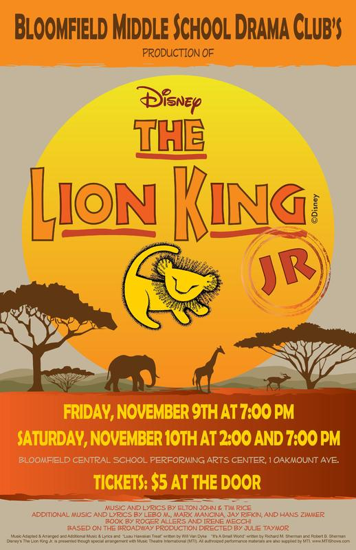 Middle School presents The Lion King Jr