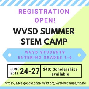 Summer Stem Camp flyer