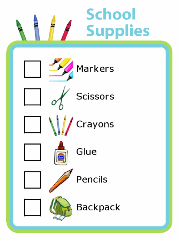 2020-21 School Supply List Featured Photo