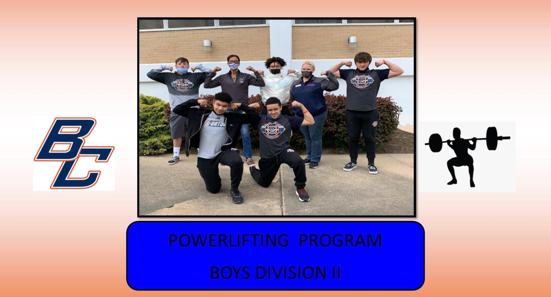 BCHS Boys Powerlifting Team