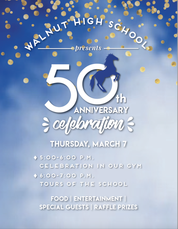 Walnut High to mark 50th anniversary on Mar. 7 Featured Photo