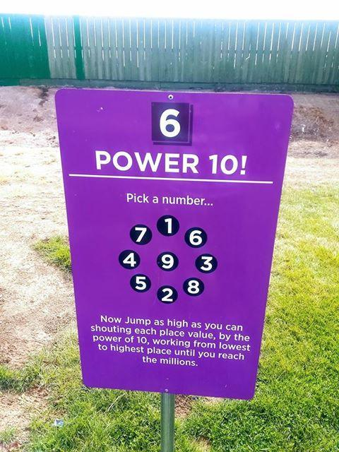 Power 10 sign at Snake River Elementary.