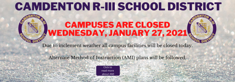 Campus Closed - Wednesday, January 27, 2021 Featured Photo