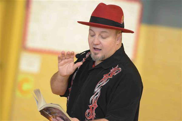 DWE hosts visit from author and screenwriter Michael Anthony Steele