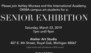 Senior Art Exhibition March 23 7-9