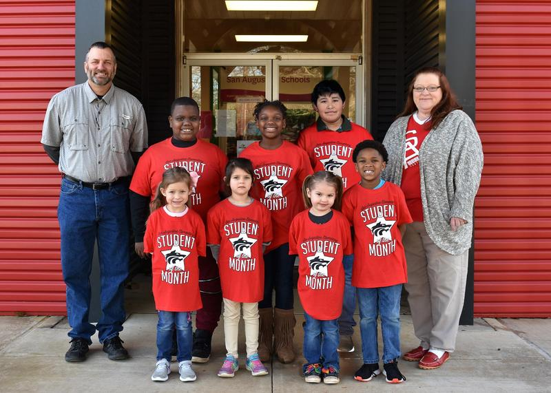 January Students of the Month for Elementary