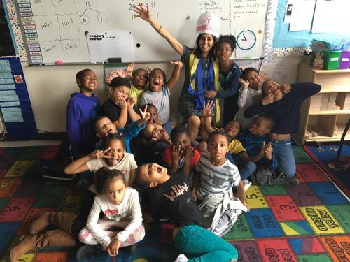 Second Grade having fun!