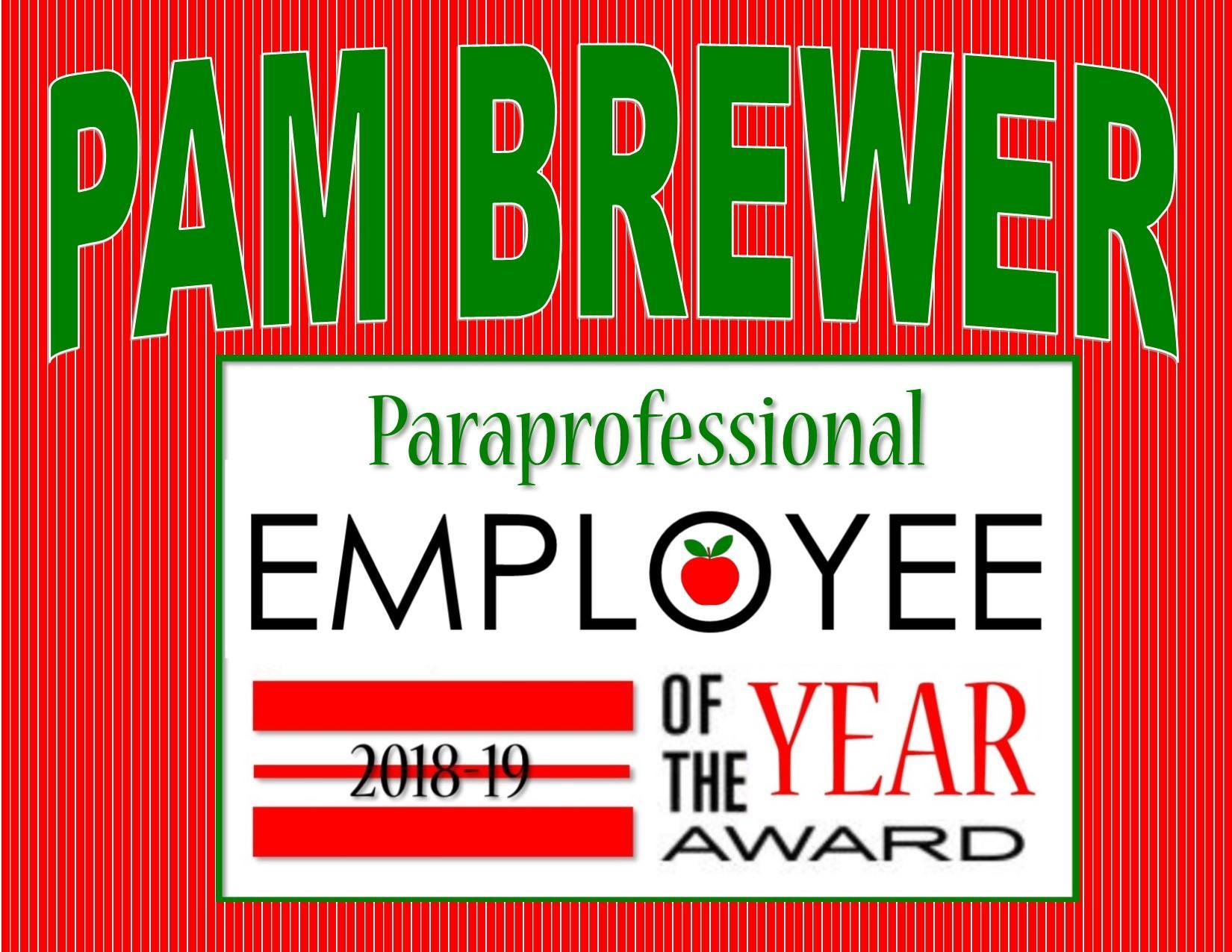 Pam Brewer, Employee of the Year