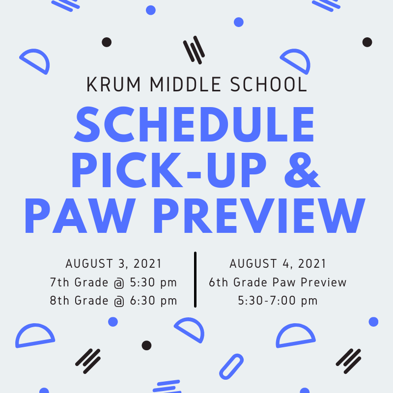 The dates are set for KMS Schedule Pick Up and Paw Preview! Featured Photo