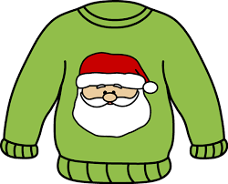 sweater with santa on front