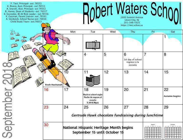 September RWS Calendar