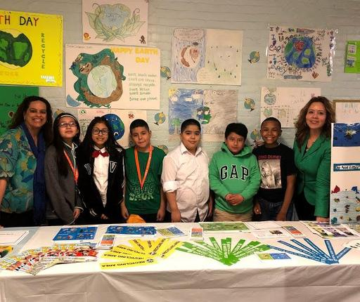 Green Team with Principal and Assistant Principal