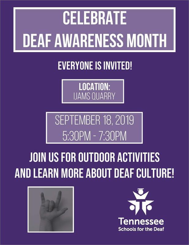 Celebrate Deaf Awareness Month - 9-18-19 Flyer