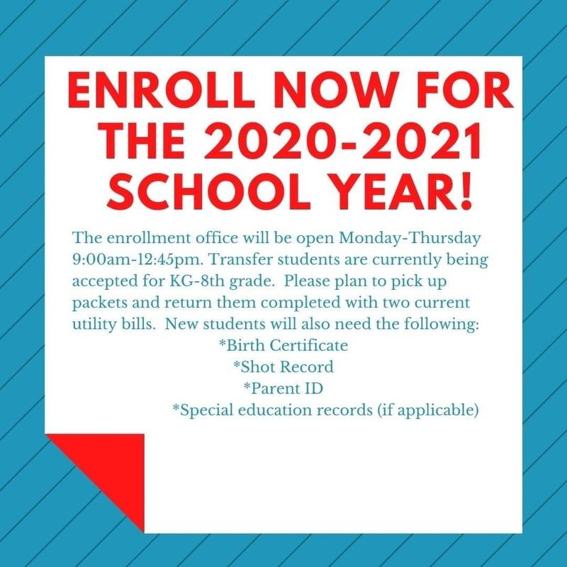 Now Enrolling for the 20/21 School Year!!!! Featured Photo