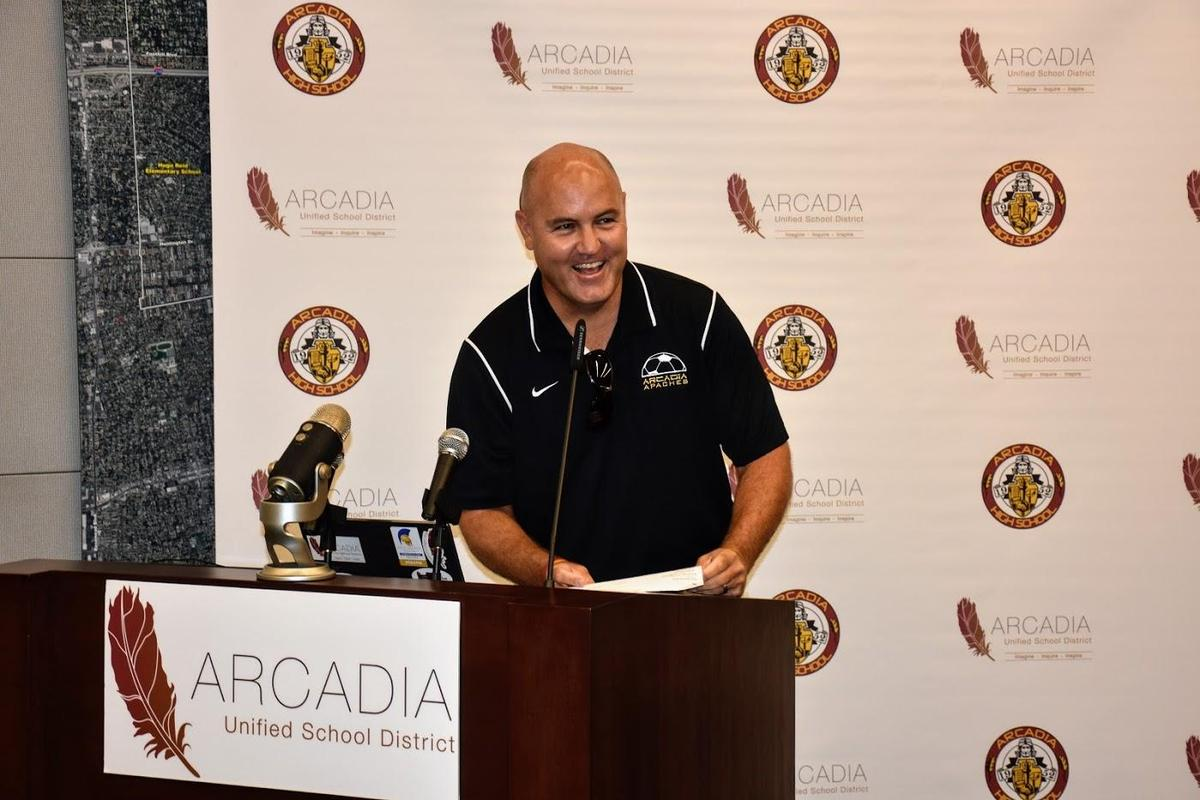 Arcadia High Principal Dr. Brent Forsee at 2018 New Educator Academy Draft Day