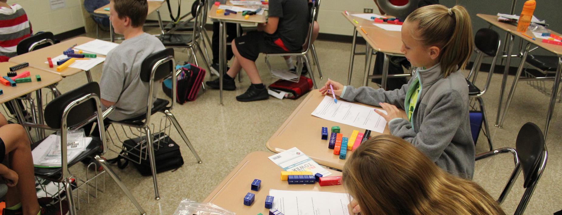 Using manipulatives in math class