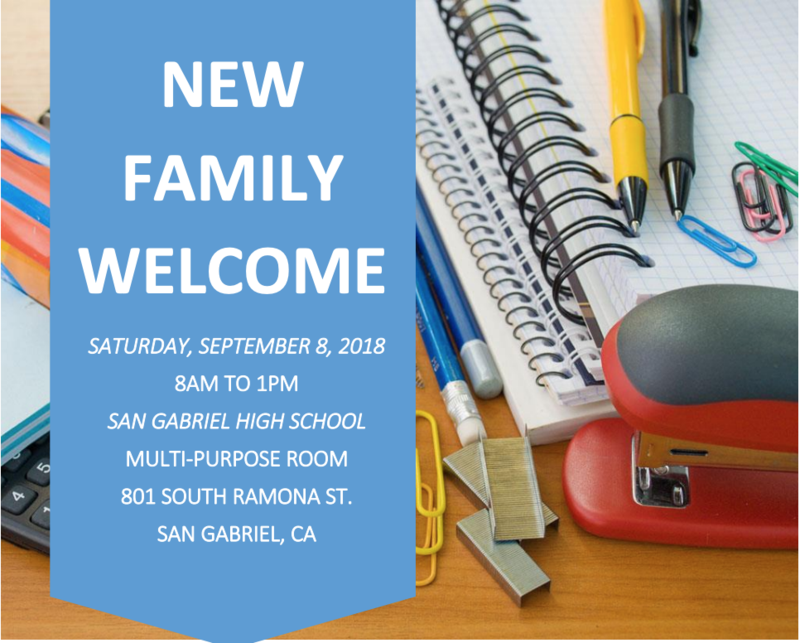 New Family Welcome Event - September 8, 2018 Featured Photo