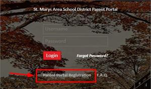 Image of Registration link on website