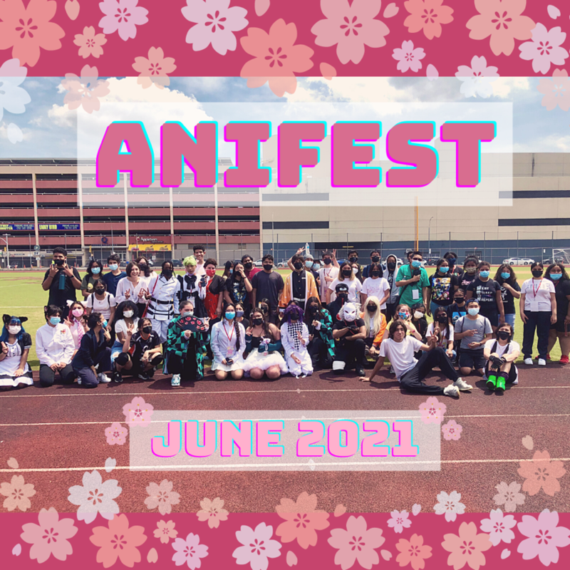 AniFest group photo of attendees and volunteers. June 2021.