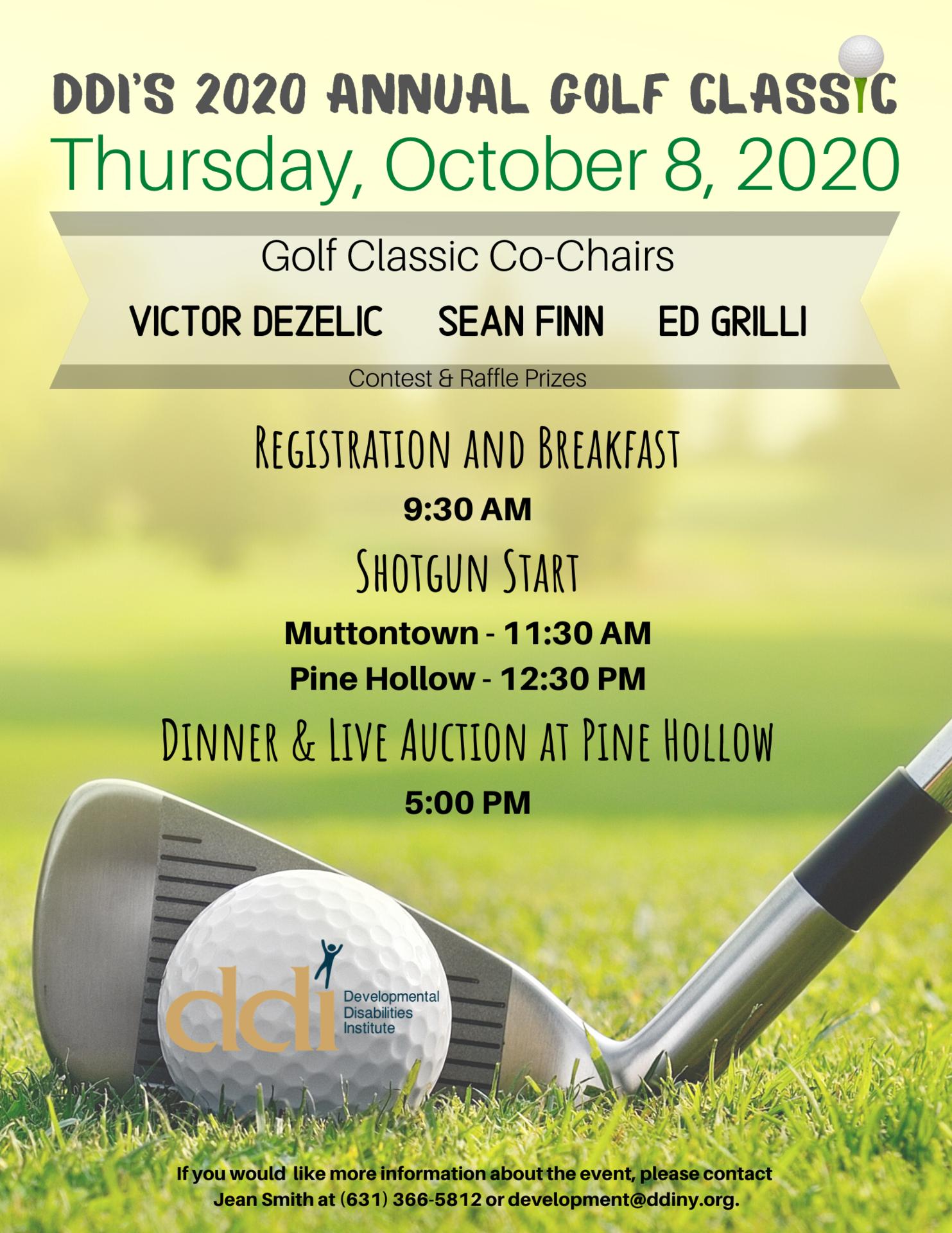 DDI 2020 Annual Golf Classic