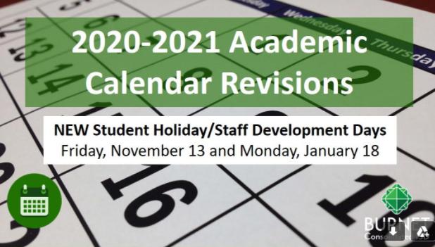2020-2021 Academic Calendar Revisions Thumbnail Image