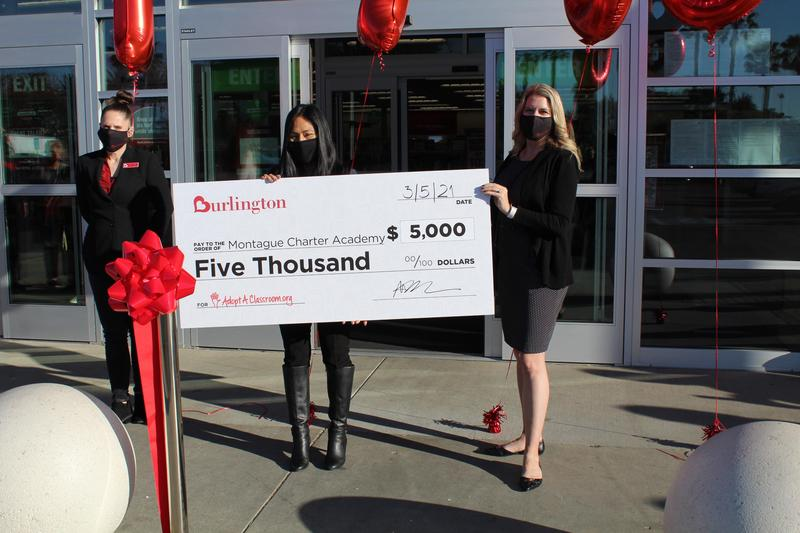 Montague Charter Academy Receives $5,000 Donation from New Burlington Store Featured Photo