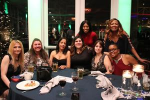 Group pic of staff at holiday party