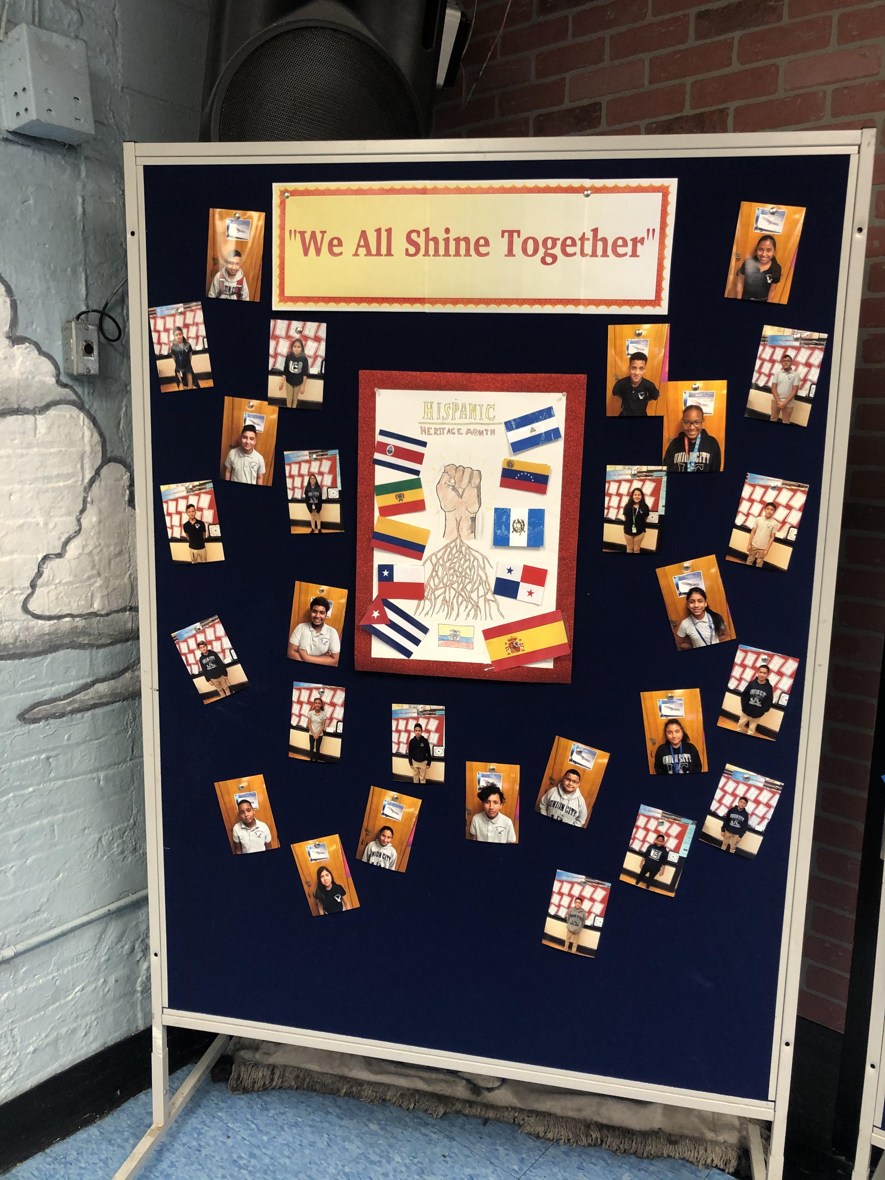 We all Shine Poster Display of the students