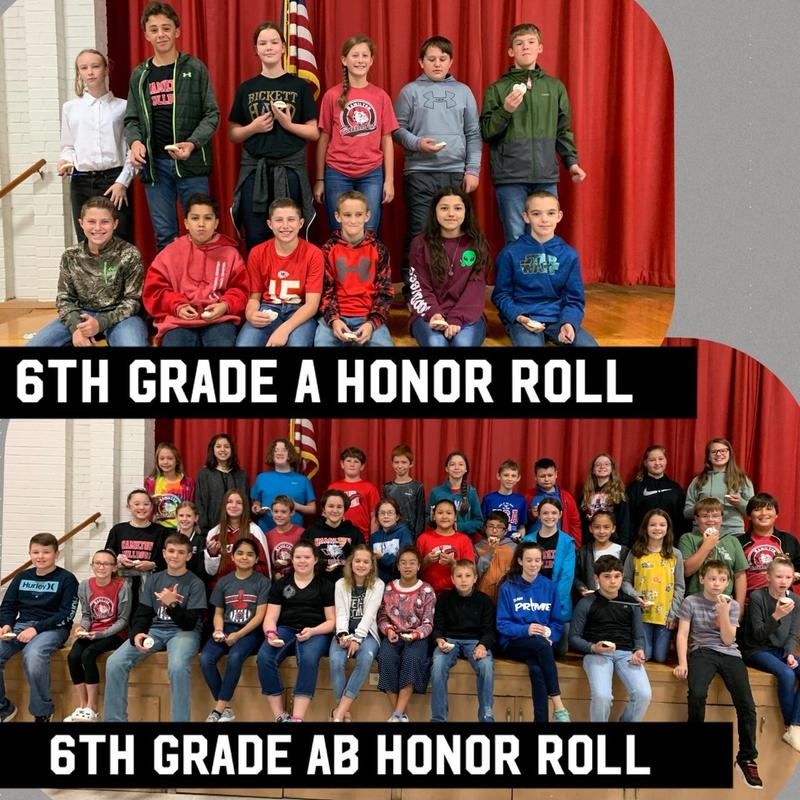 6th Grade A and AB Honor Rolls Thumbnail Image