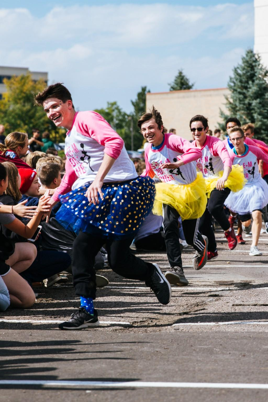 Pep Rally fun, captured by student Zachary Fornelius.
