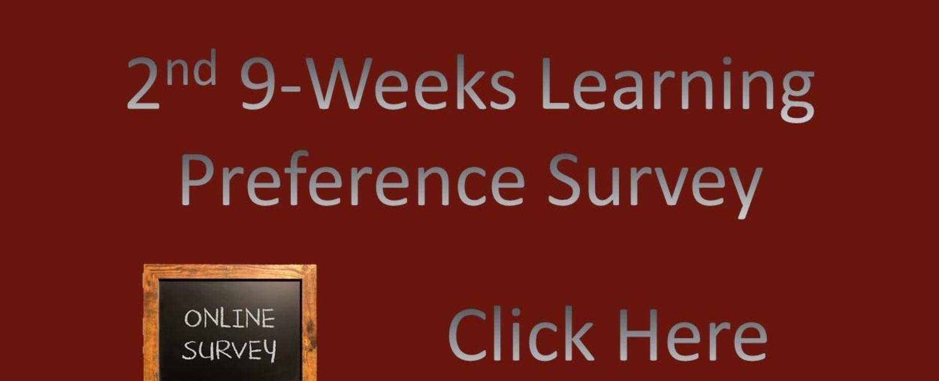 2nd 9 weeks Learning preference survey
