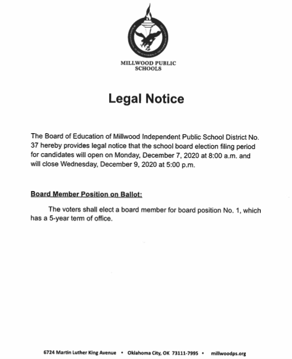 Board of Education Legal Notice- School Board Election Featured Photo