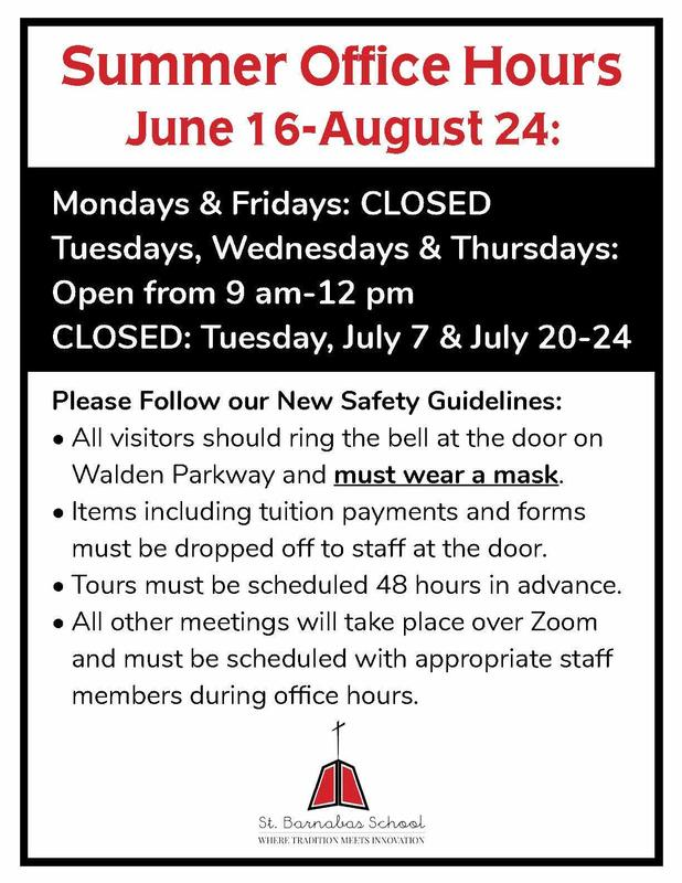 SB Summer Office Hours & Safety Guidelines Featured Photo