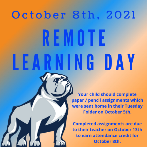 Remote Learning Day - October 8th, 2021 Featured Photo