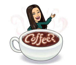Mrs. Q coffee bitmoji