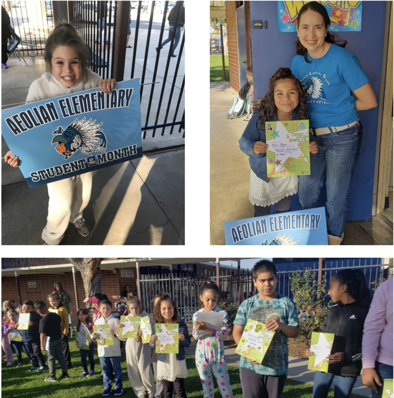 Student of the Month - Aeolian Elementary School Featured Photo
