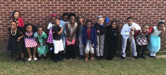 2nd and 3rd graders on the 100th day of school 2017