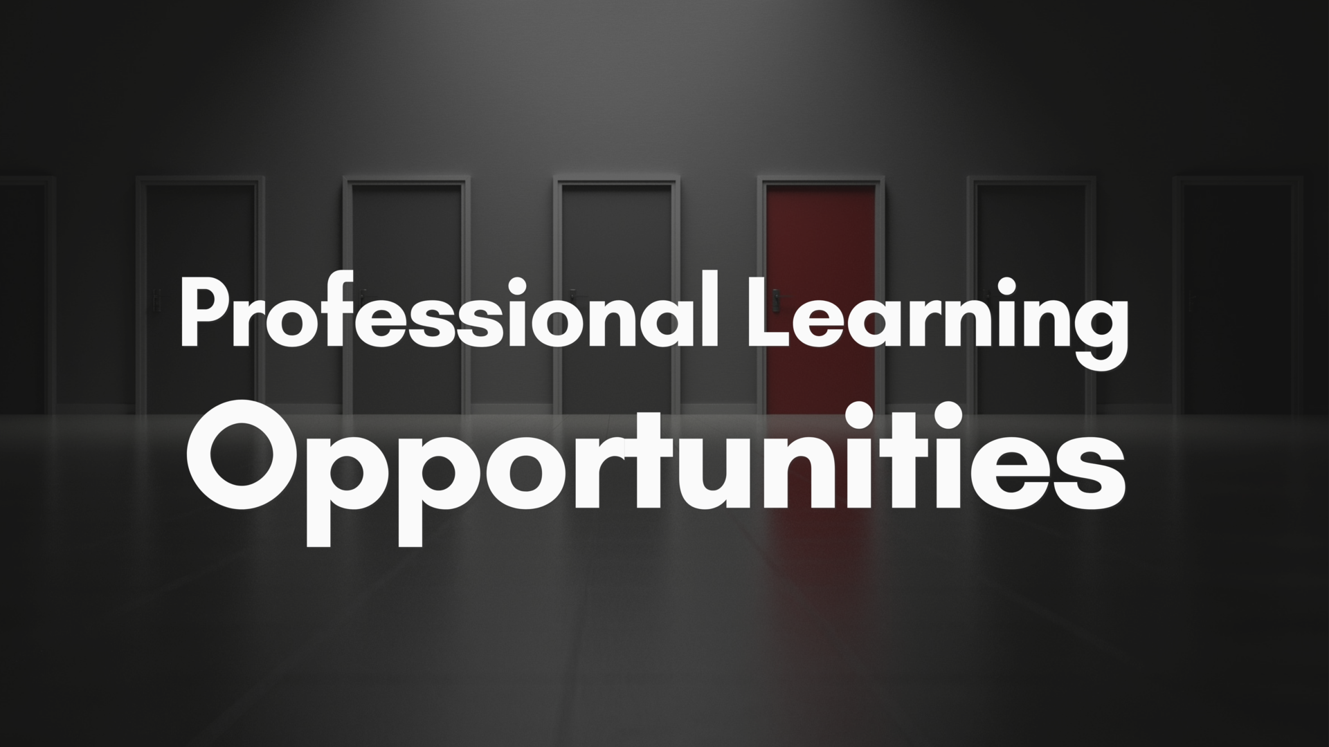 Professional Learning Opportunities Link