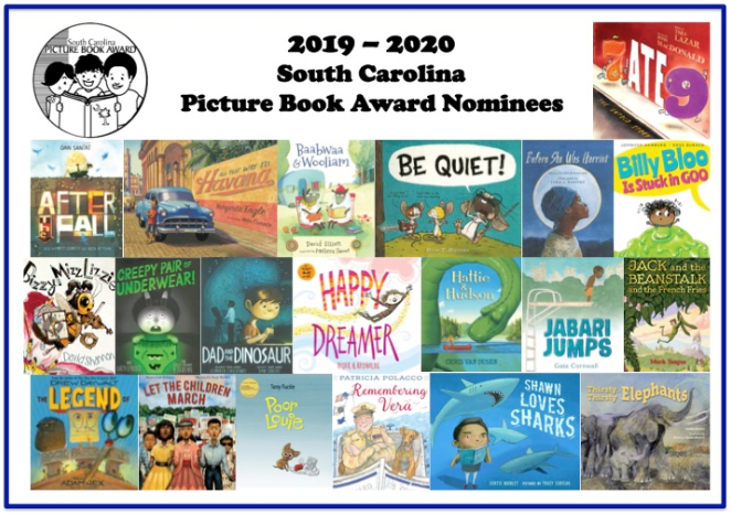 South Carolina Picture Book Award Nominee Titles for 2019-20