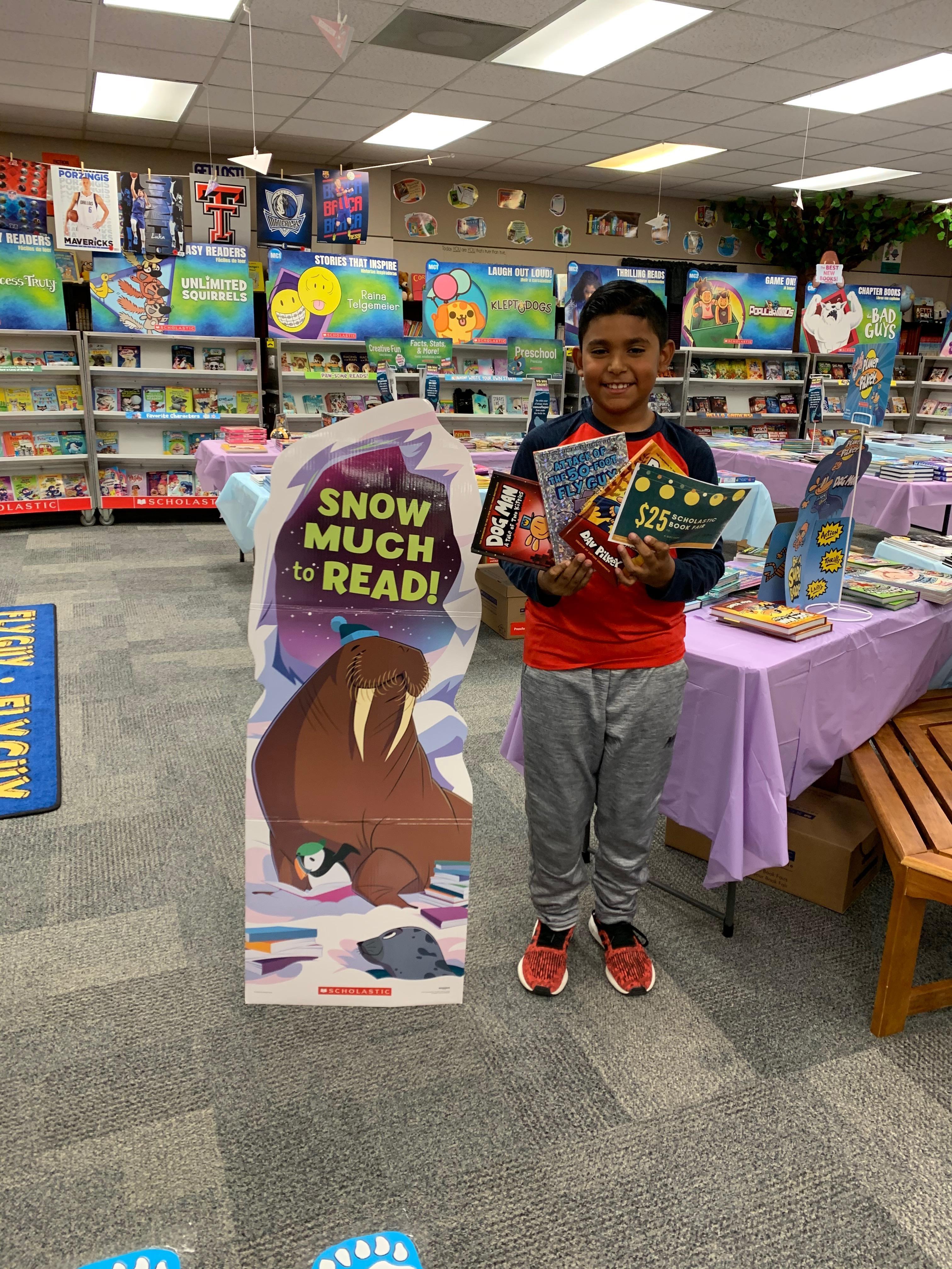 Fall Book Fair drawing winner
