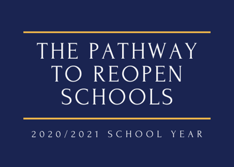 The Path to Reopen Schools ~ 2020/2021 School Year Thumbnail Image