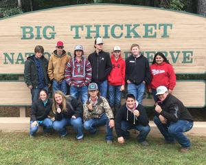 Photo of Coldspring FFA Wildife Team members