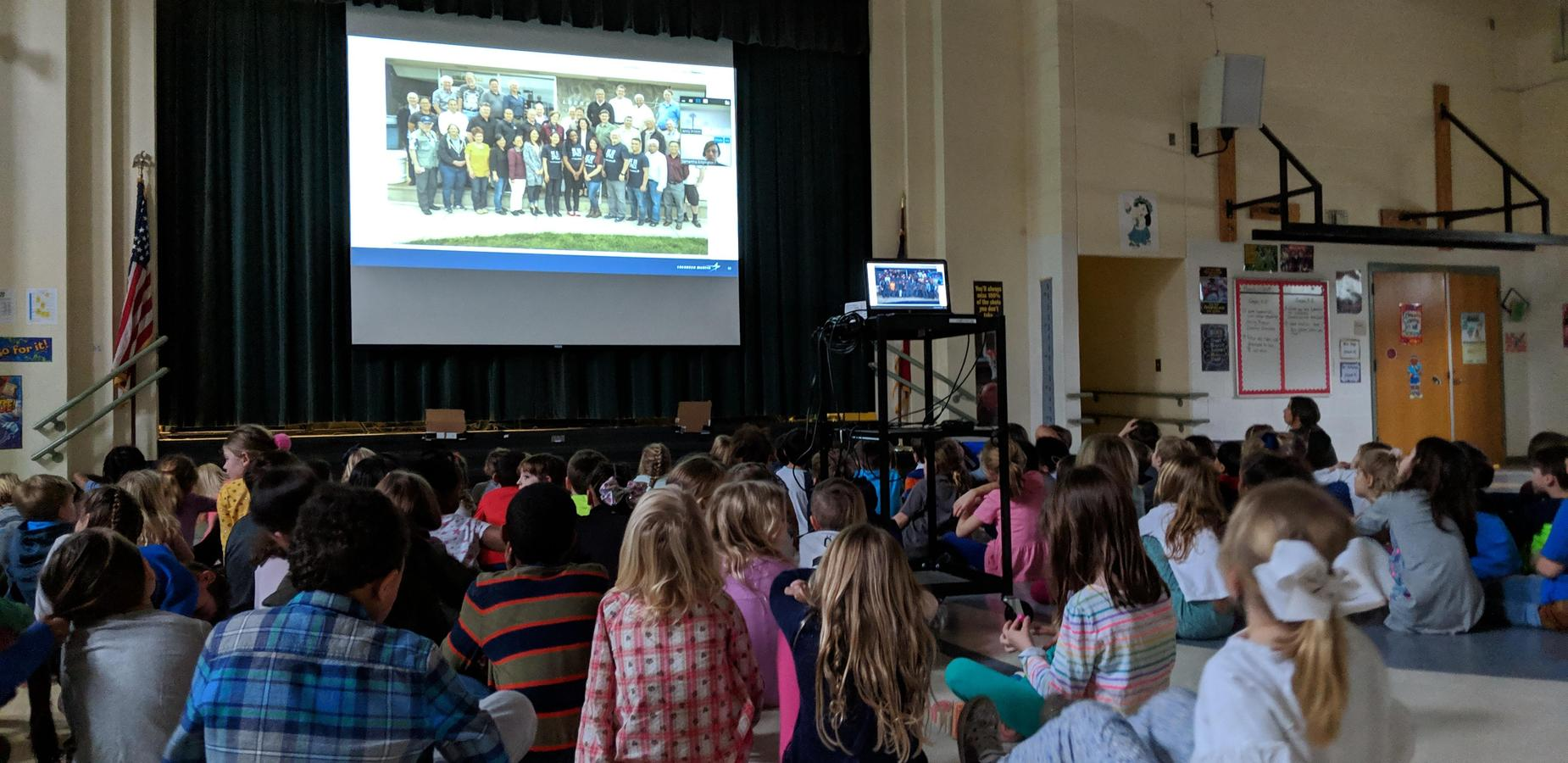 First Grade video conference