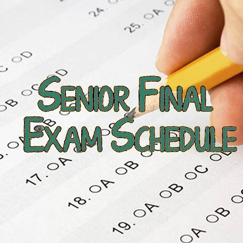Final Exam Schedule Graphic
