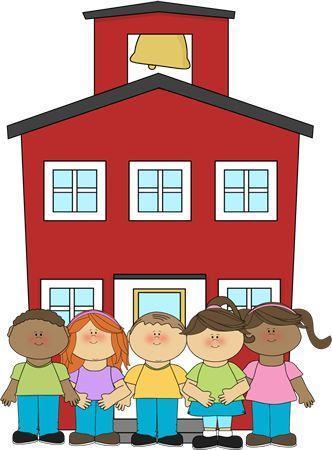 school house with children