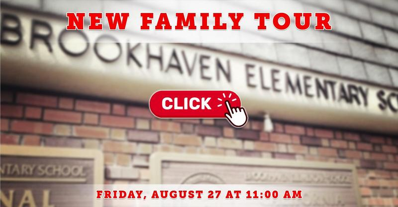 New Family Tour on Friday, August 27 at 11:00 AM